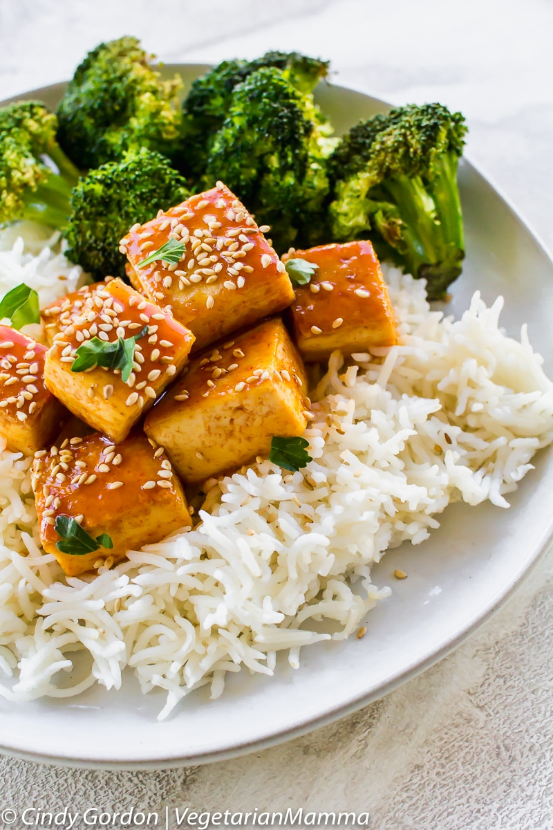 Honey Sriracha Tofu is a spicy fried tofu recipe that is perfect for game day.