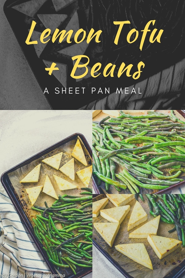Lemon Tofu and Beans - A Vegetarian Sheet Pan Meal
