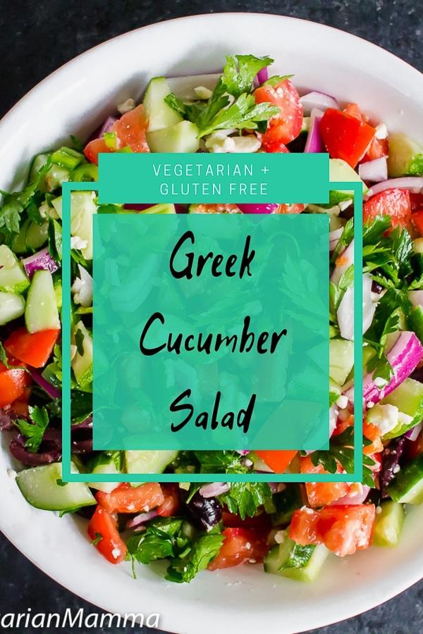 Vegetarian Greek Cucumber Salad