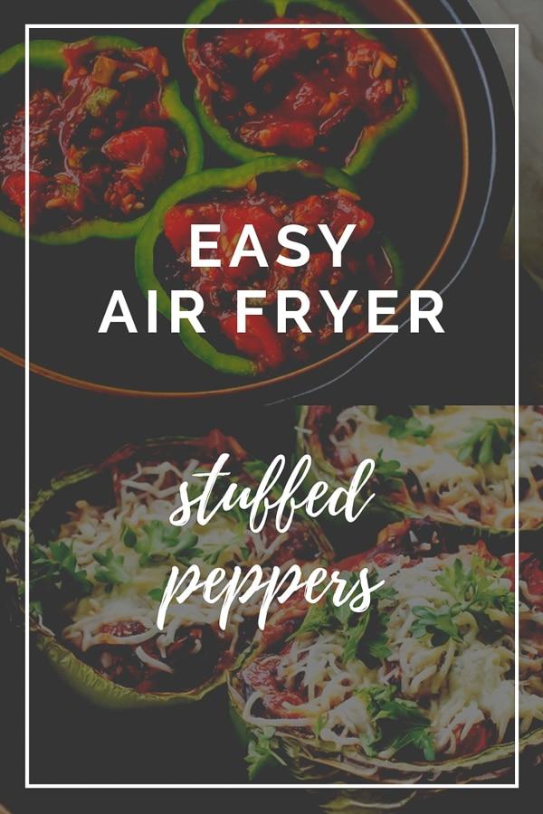 Air Fryer Stuffed Peppers (Vegetarian)