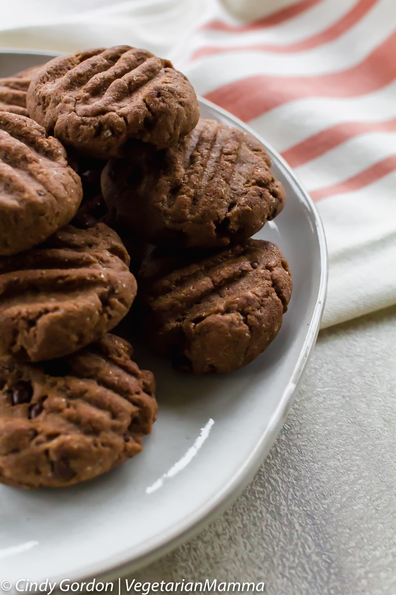 Double Chocolate Air Fryer Cookies (gluten free)