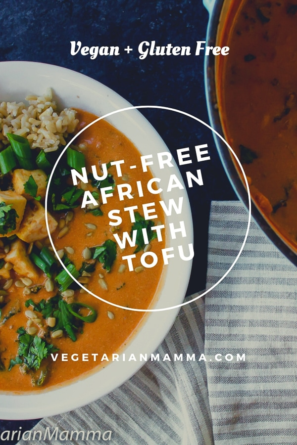 Nut-Free African Stew with Tofu