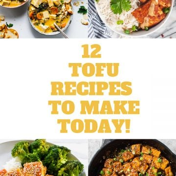 A collection of 12 easy to make tofu recipes