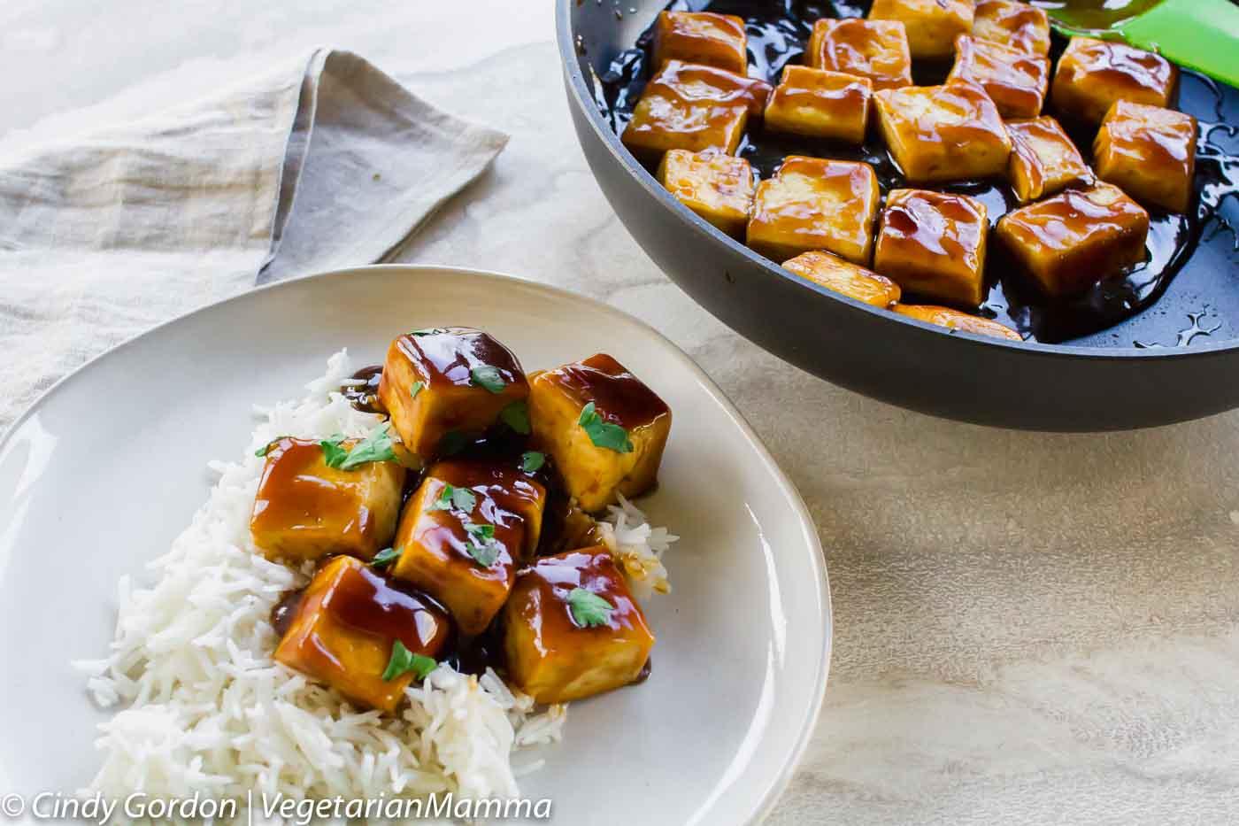 Brown Sugar and Balsamic Tofu
