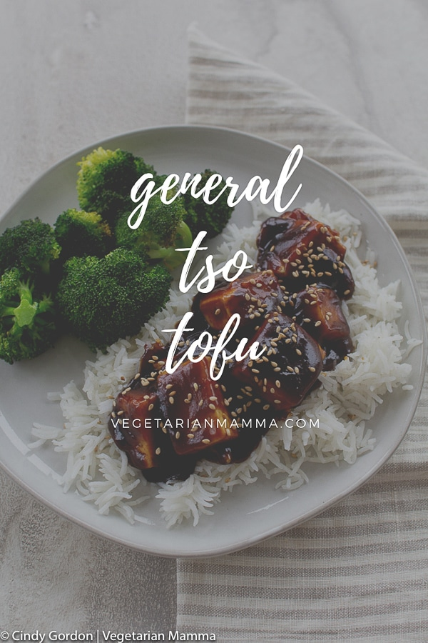 General Tso Tofu served over rice