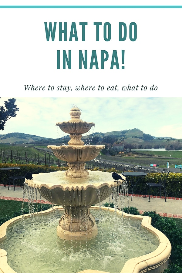 What to do in napa - gluten free ideas