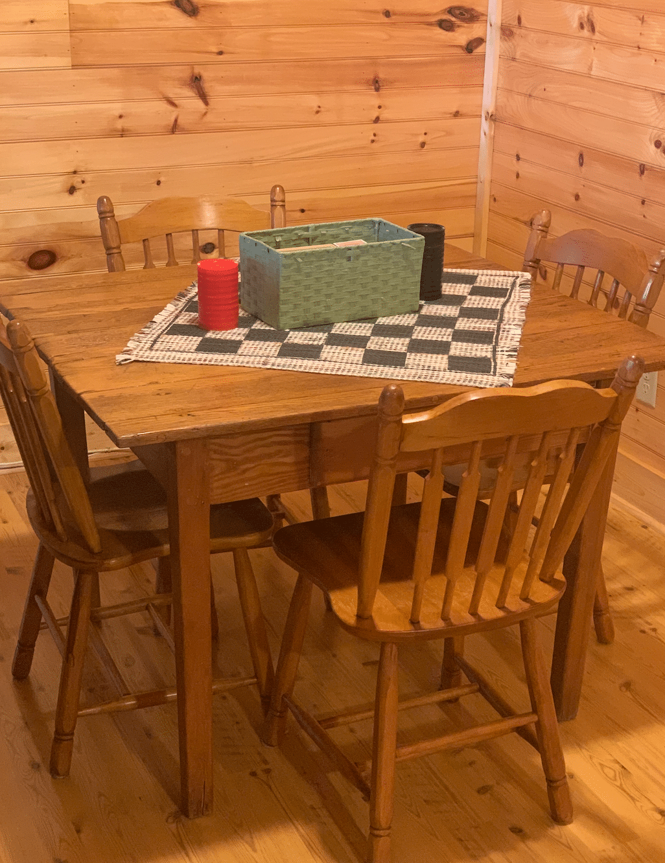 game table at black bear lodge