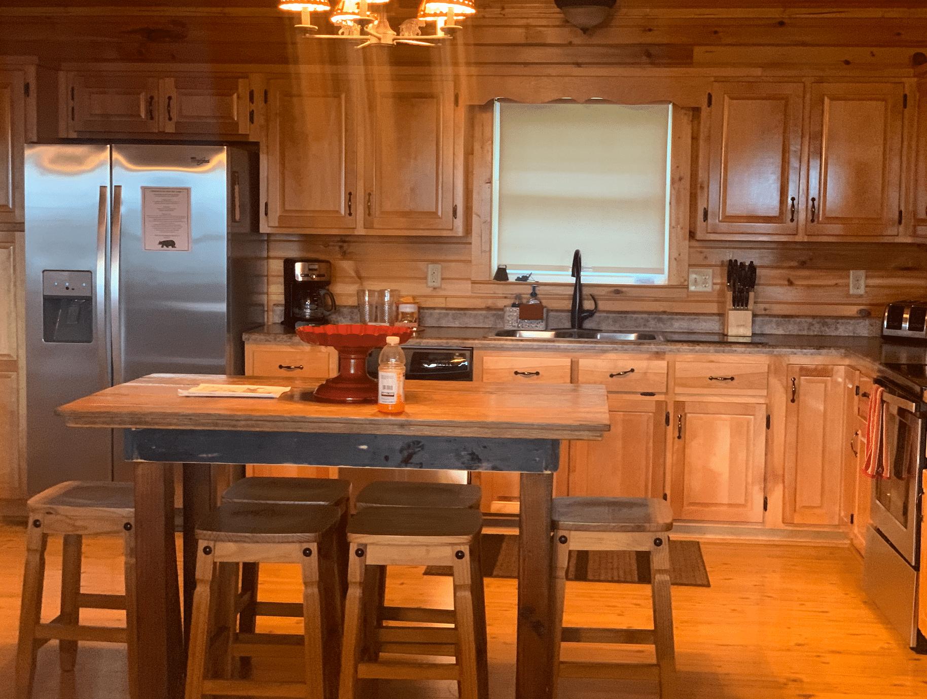 kitchen at black bear lodge