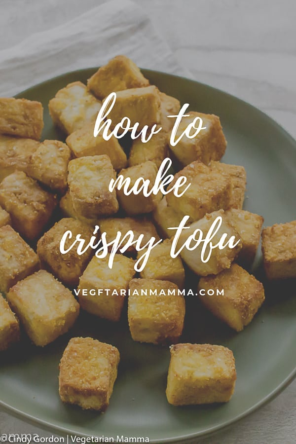 This Crispy Tofu is such a tasty dish and texture. You'll love having this fried tofu as an addition to any stir fry or as a gluten-free option to eat on its own. #crispytofu #tofurecipe