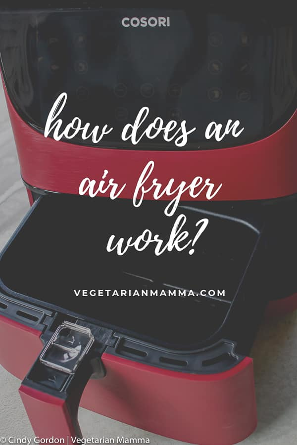 How does an air fryer work? Picture of a red cosori air fryer