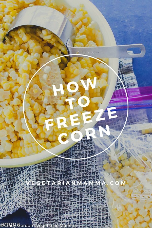 How to freeze corn on the cob pin with text overlay
