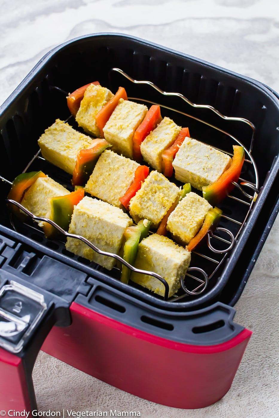 Tofu Skewers in the air fryer