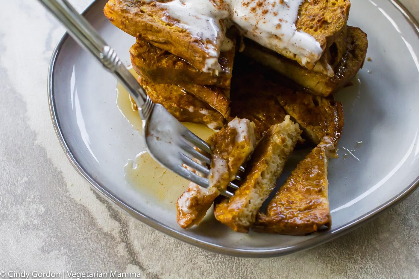Pumpkin Air Fryer French Toast