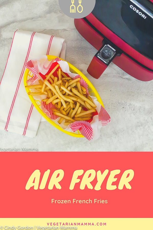 Air Fryer Frozen French Fries pin 2