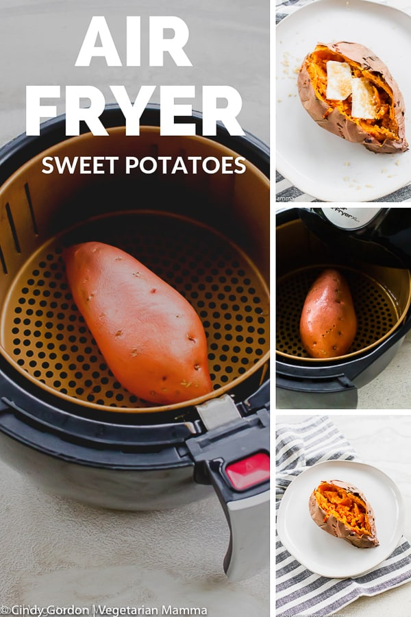 collage of air fryer sweet potato shots