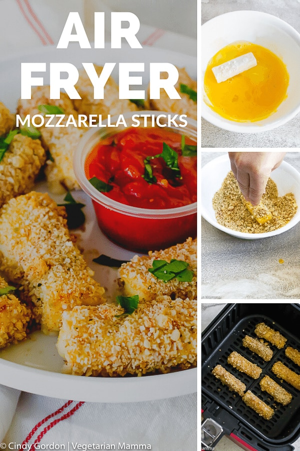 Air Fryer Mozzarella Sticks are easy to make and taste amazing! Who knew that mozzarella sticks in the air fryer would taste so delicious! Ditch that deep fry and learn how to make mozzarella sticks without all that oil! #airfryersnacks #airfryerrecipe