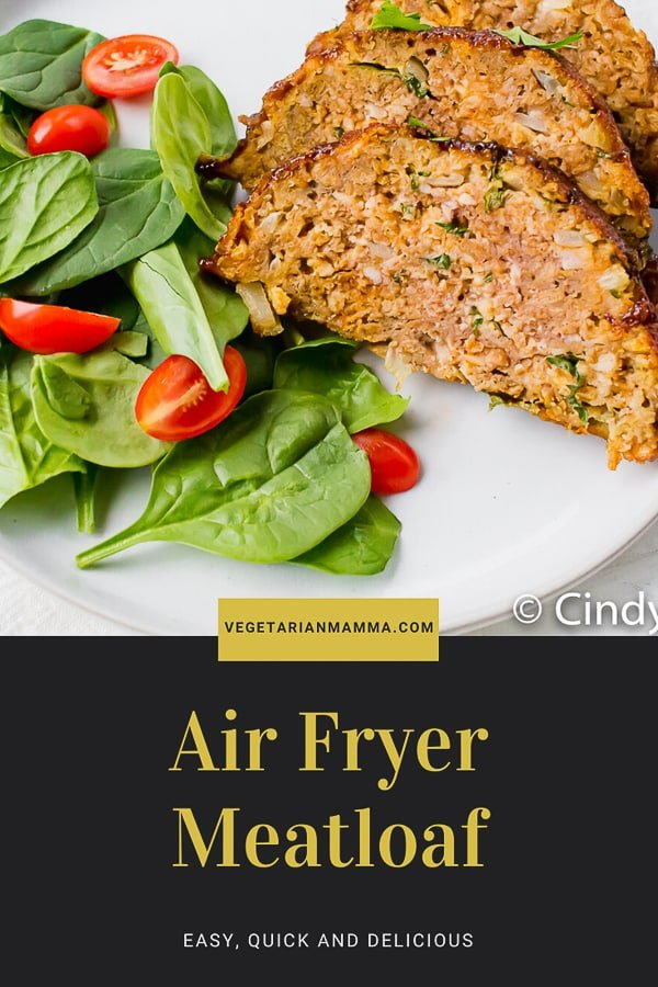 Air Fryer Meatloaf is a game changer. You can early make meatloaf in the air fryer much quicker than a traditional oven. You are going to love this air fryer meatloaf recipe. #airfryer #meatloaf
