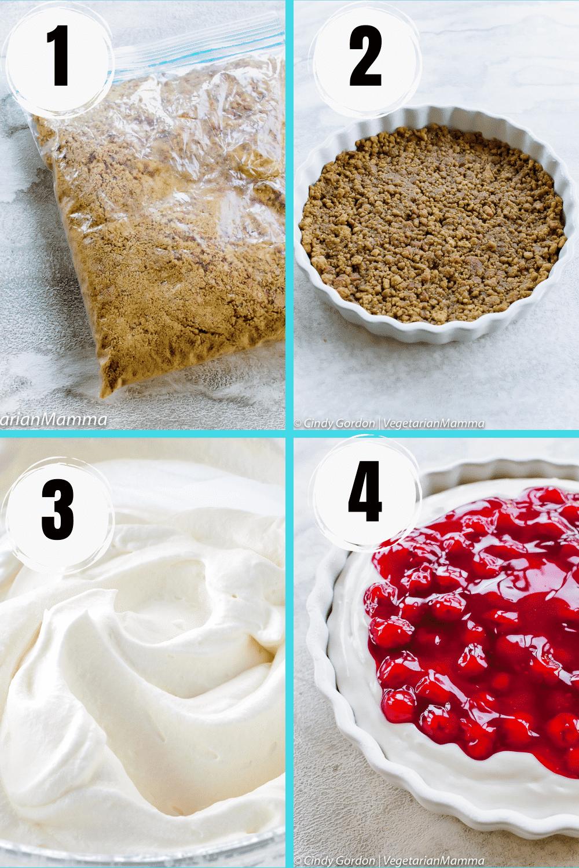 Cherry Cheesecake Dessert collage