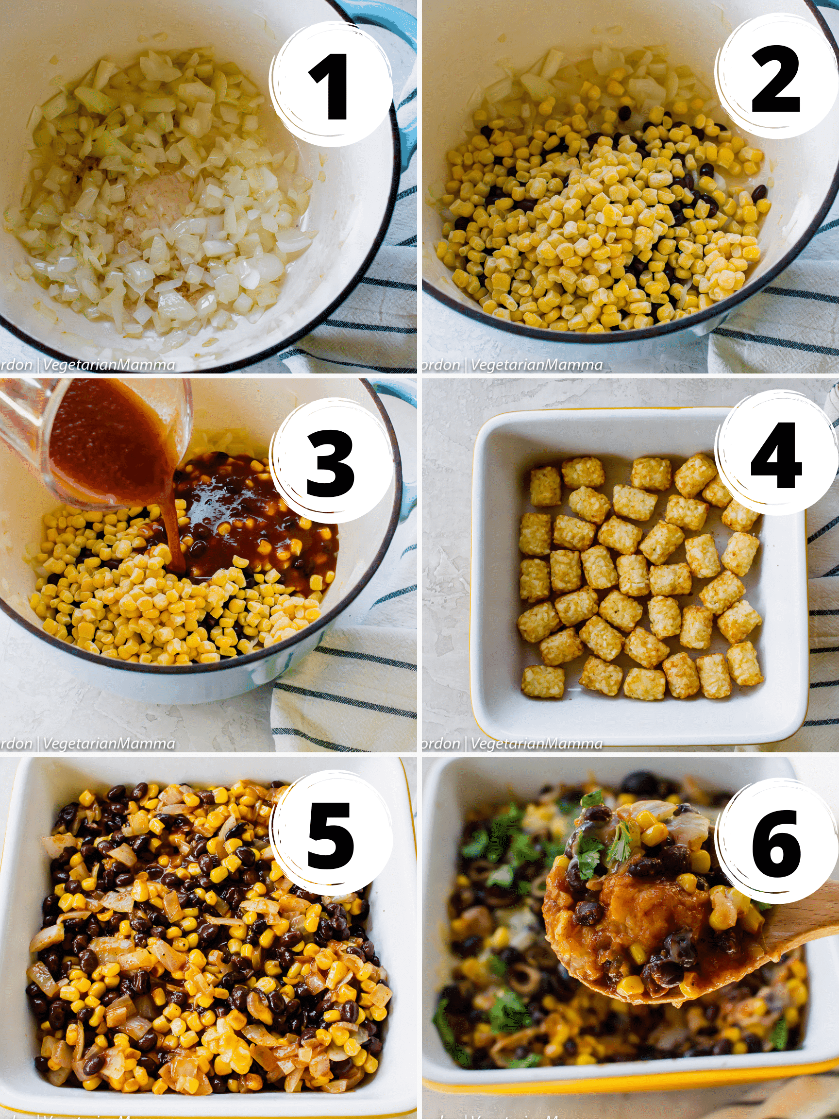 Mexican Tator Tot Collage