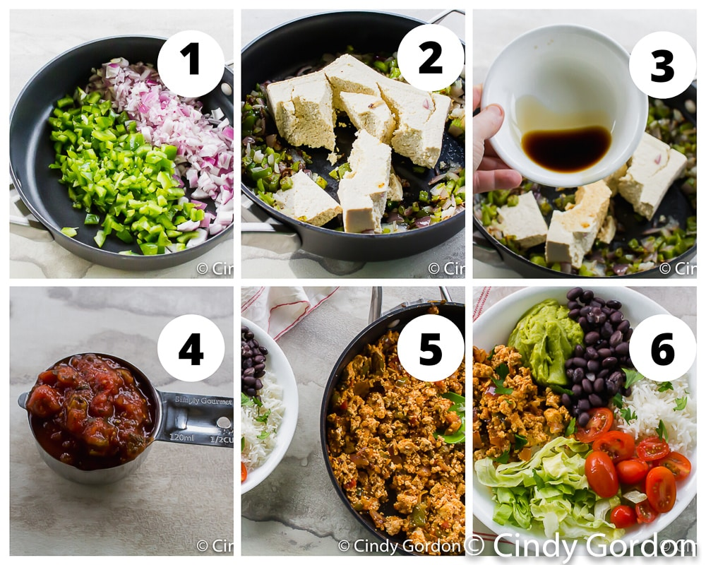steps to make tofu sofritas
