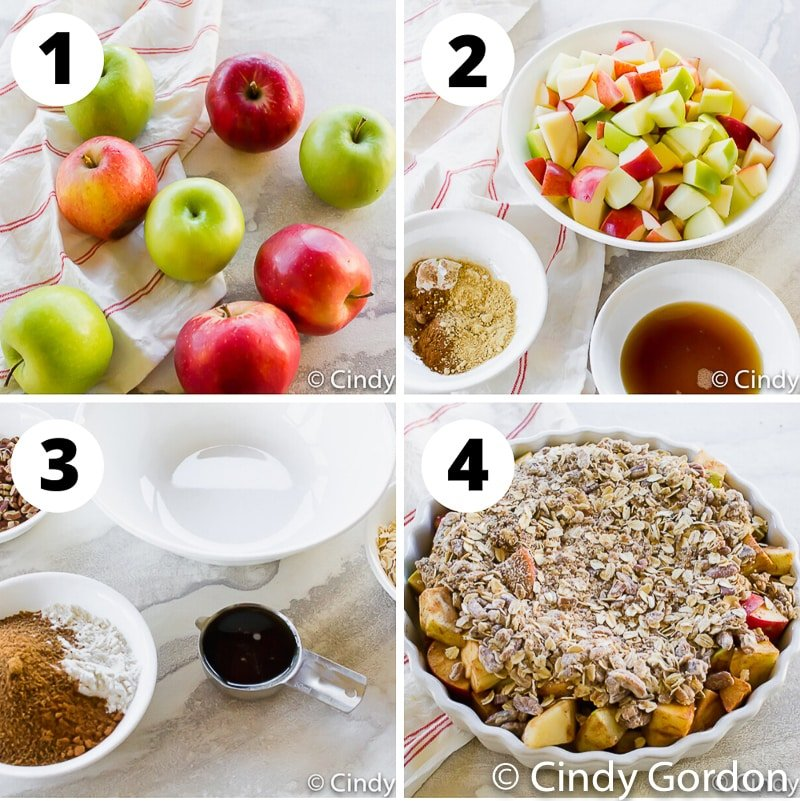 steps to make vegan apple crisp