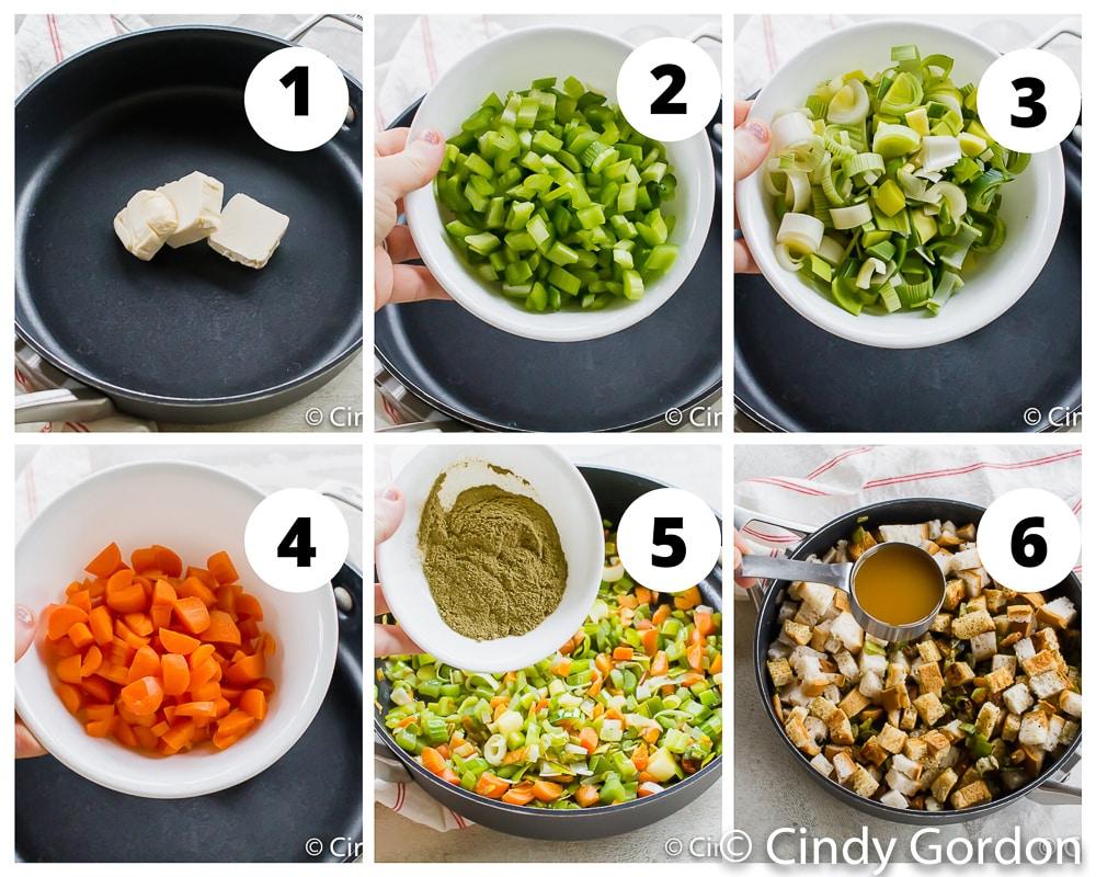steps to make vegan stuffing
