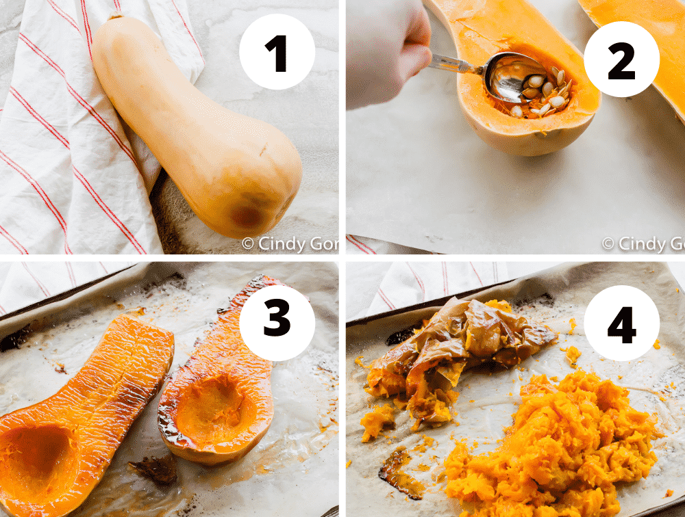 steps to roast a butternut squash in the oven