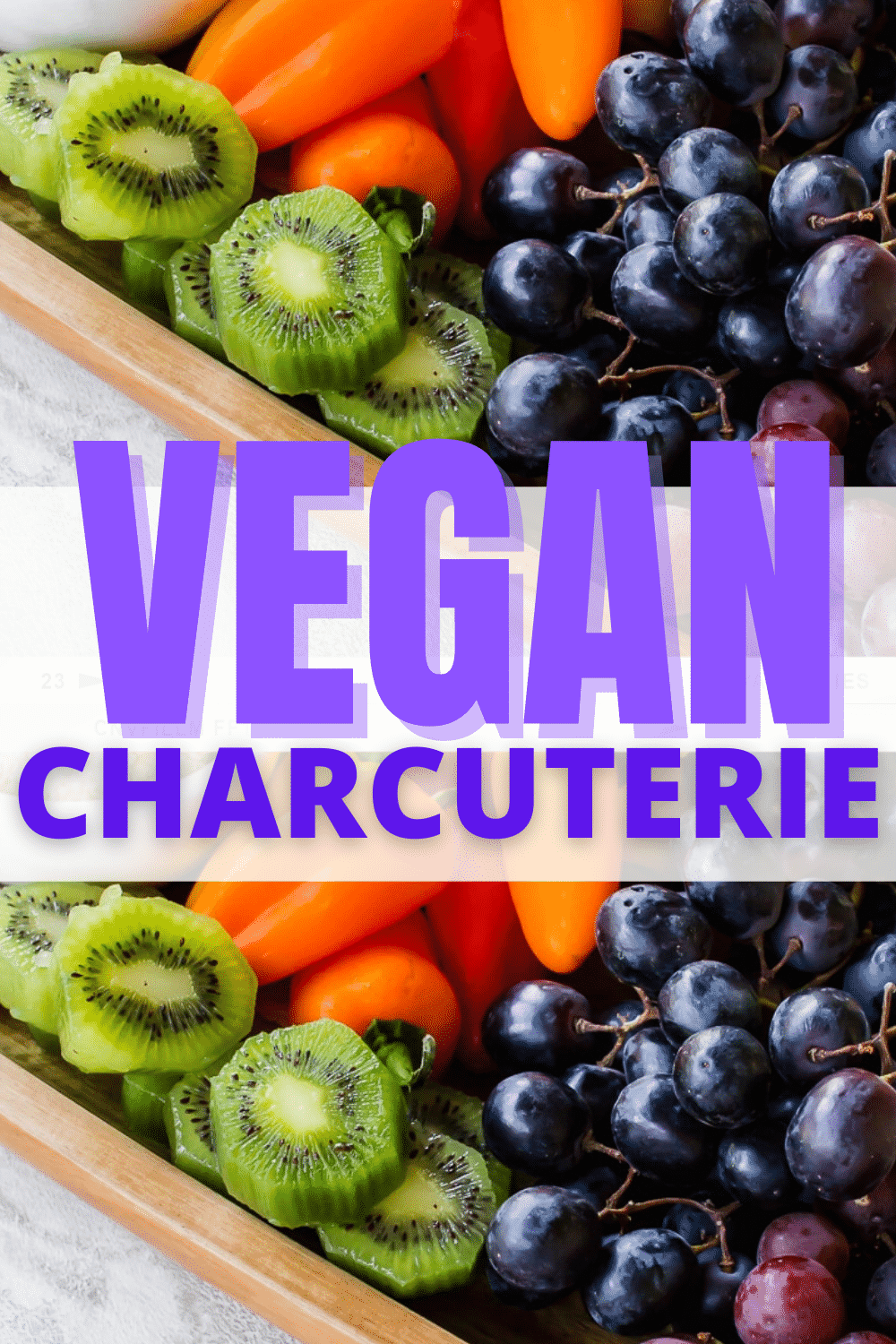 Vegan Charcuterie anyone? This Vegan Charcuterie Board will be your newest obsession. Push aside the traditional meat and cheese platter and welcome this vegan option! #vegancharcuterie #vegetariancharcuterie