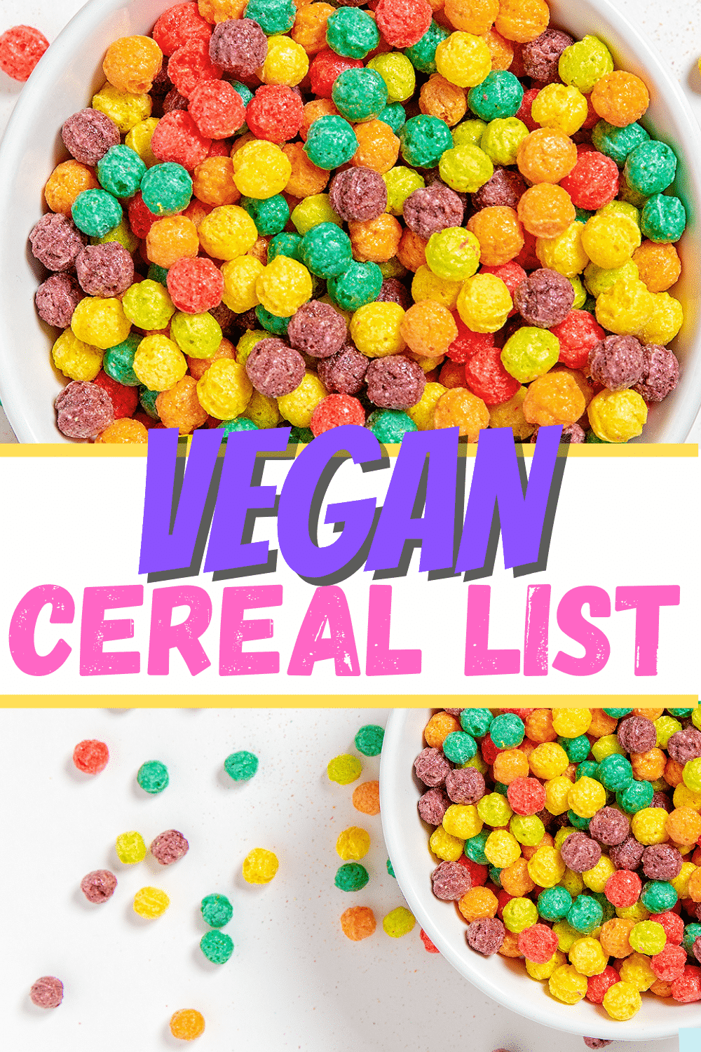 What cereal brands are vegan? If you love cereal but are wondering which option is truly a vegan cereal, we have a comprehensive list for you! #cereal #vegancereal #glutenfreecereal #veganglutenfreecereal