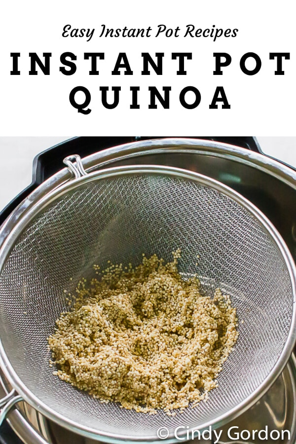 Instant Pot Quinoa is the fastest hands-off side dish with only 4 ingredients! Whip up this ancient grain in no time flat with a little vegetable broth, oil, and salt.