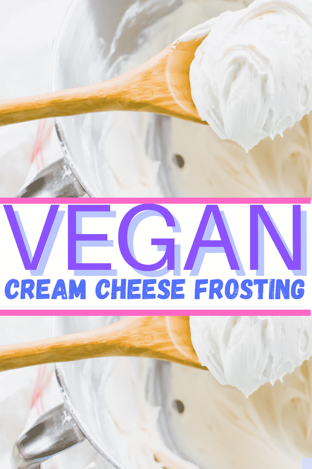 Vegan Cream Cheese Frosting is the most simple dairy-free #dessert! Add this 4-ingredient frosting to your favorite vegan cake, cookies, or donuts. #vegandessert #dairyfree #veganfrosting