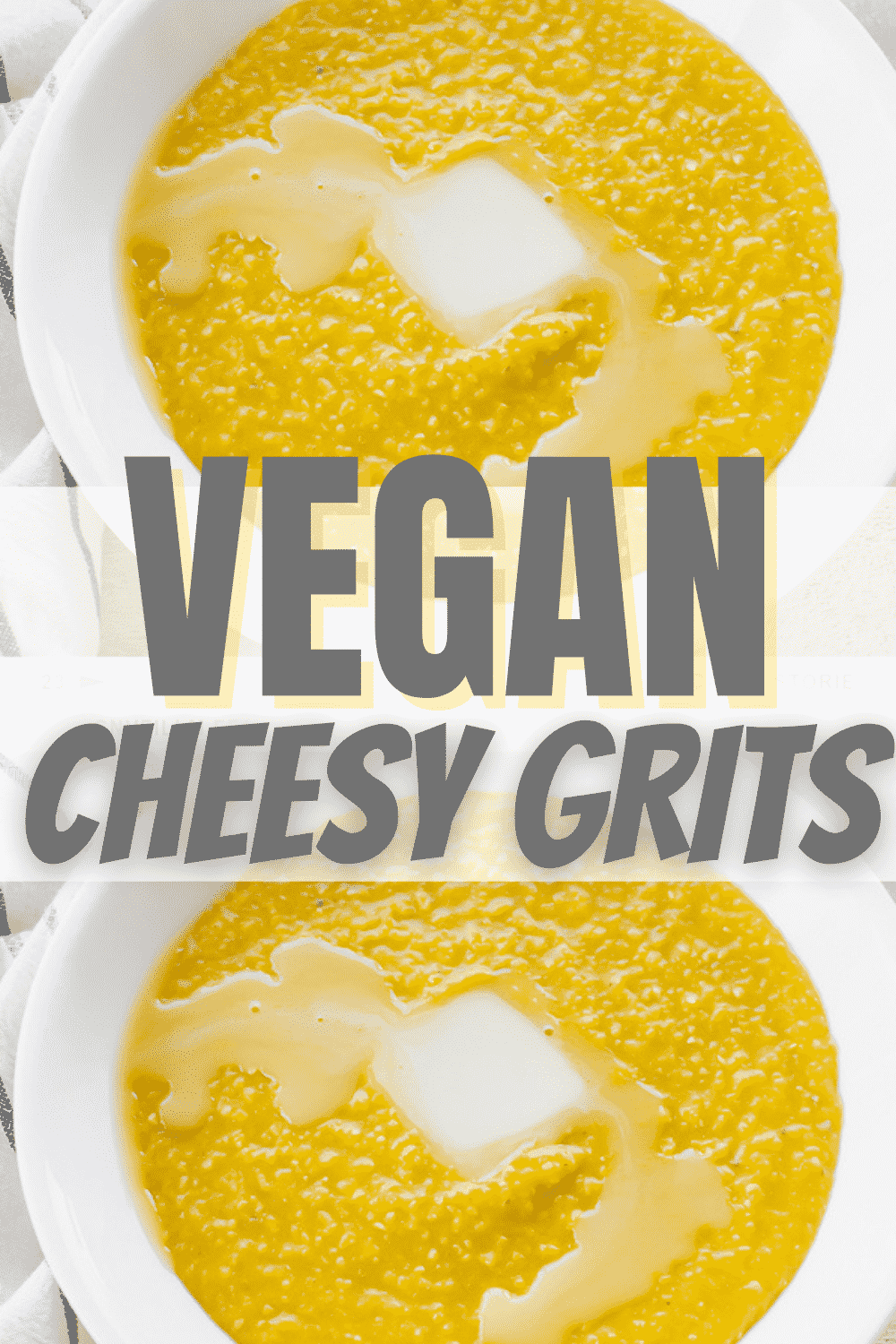 Vegan Grits are a super creamy side dish that's perfect for breakfast, lunch, or dinner! Dress up your next brunch with this 4-ingredient dish. #vegan #breakfast #brunch