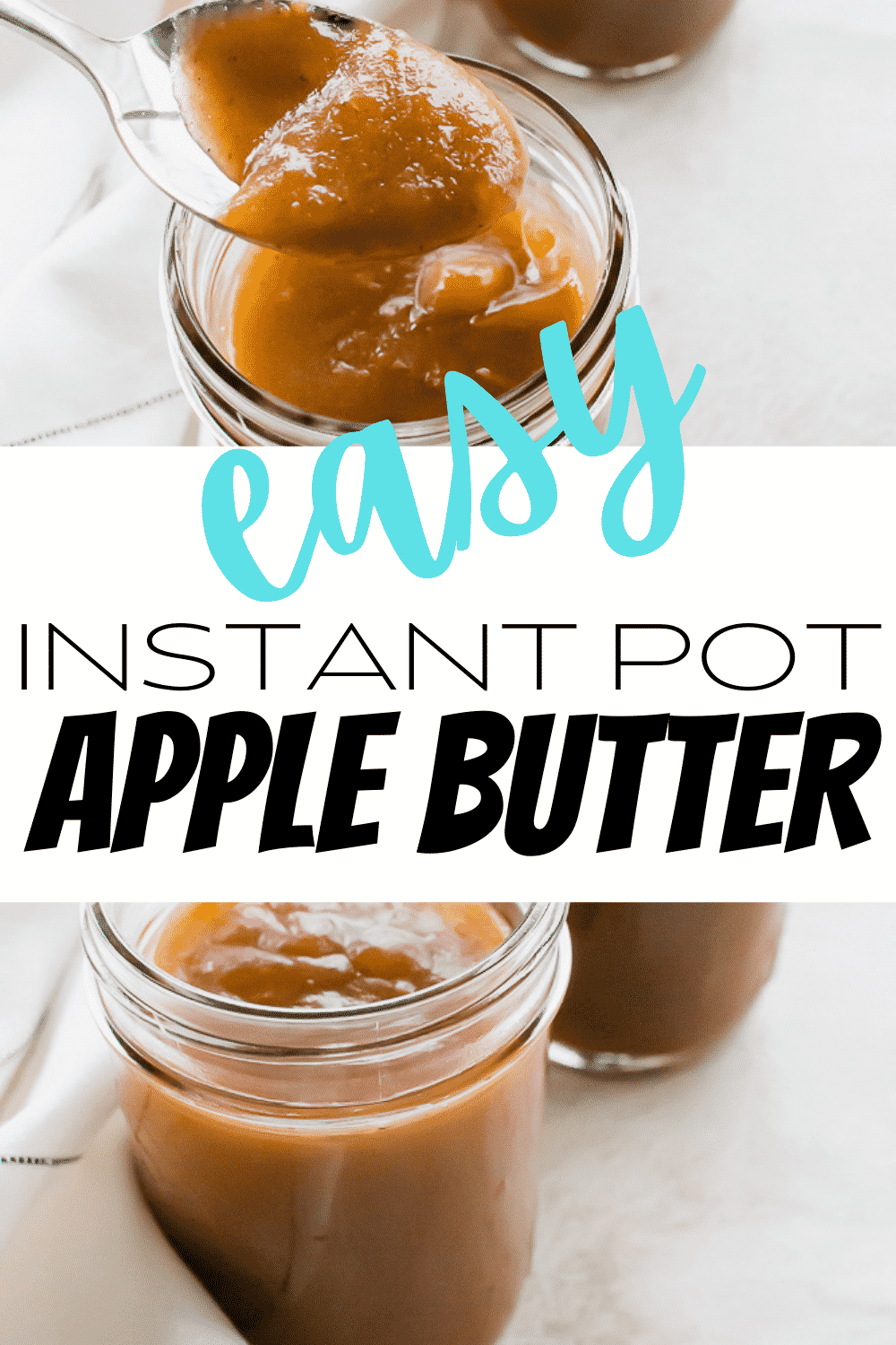 Instant Pot Apple Butter is the best vegan fruit spread made with whole apples and a bunch of fall flavors. No need to simmer apples, cinnamon, nutmeg, and cloves all day thanks to this handy pressure cooker! #applebutter #pressurecookerapplecutter #instantpotapplecutter