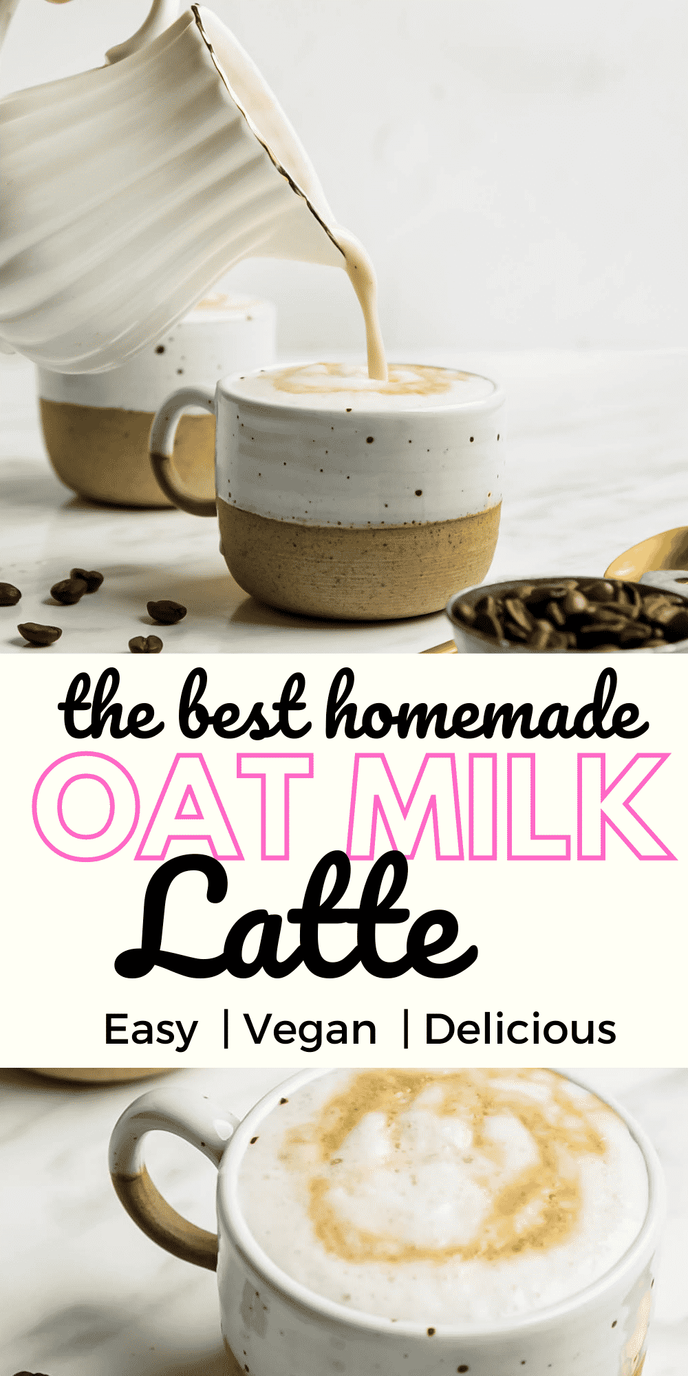 Oat Milk Latte is a delicious, easy to make morning drink that will make you feel like you are drinking a fancy coffeeshop beverage