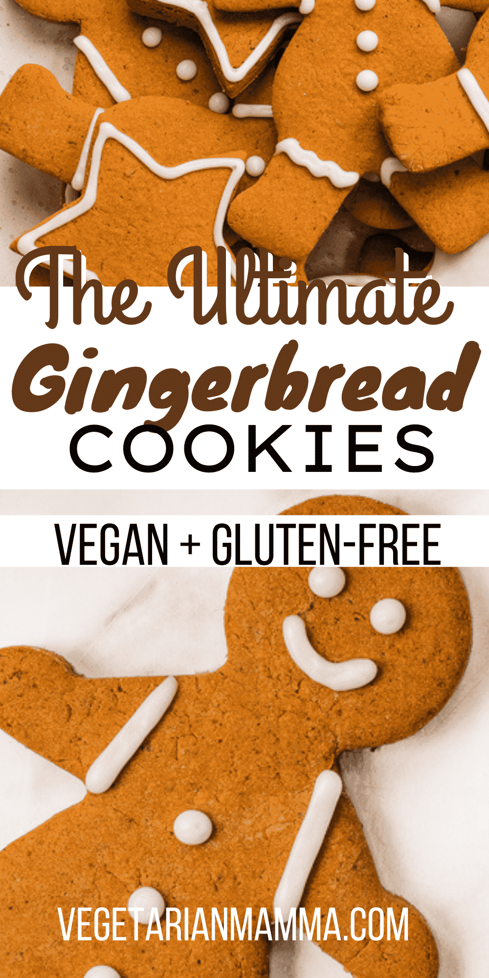 Vegan Gingerbread Cookies are the ultimate Christmas cookies! Decorate them with this homemade vegan icing for the best holiday treat you can make together in just a few hours. #veganbaking #glutenfreecookies