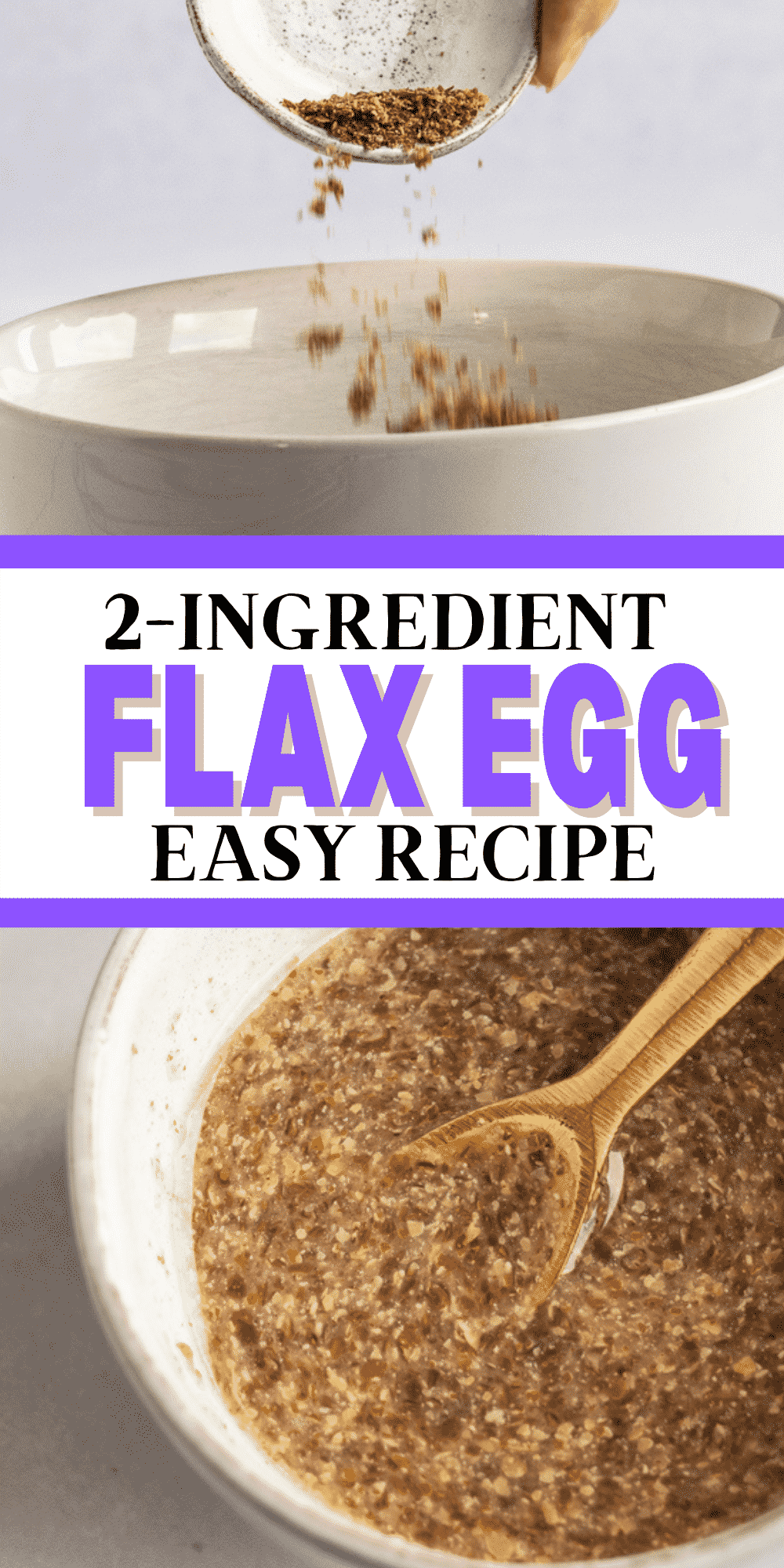 Learn how to make a flax egg for all your vegan baking! It only takes 2 simple ingredients to make the best vegan egg substitute. #veganegg #veganbaking