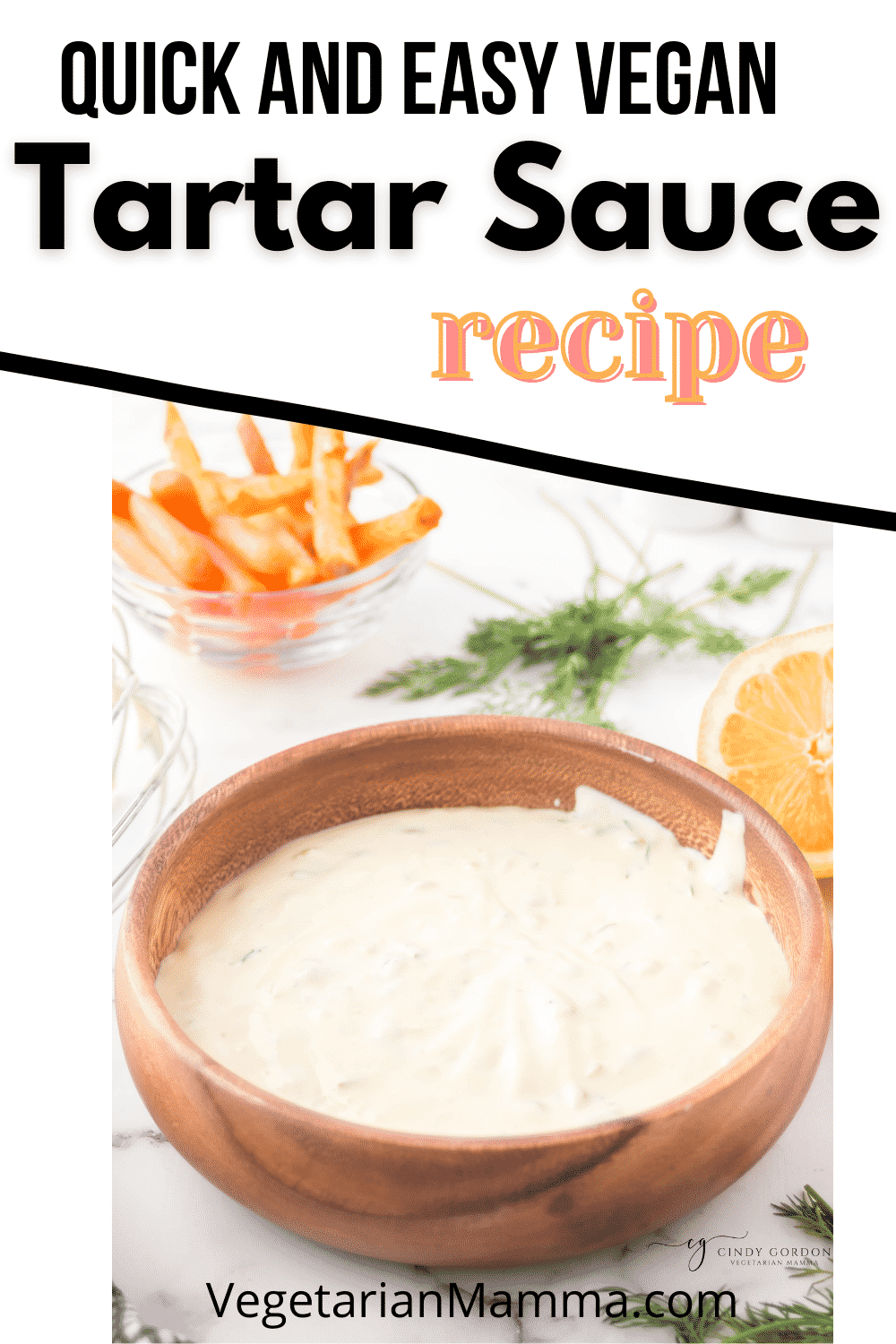 Homemade Vegan tartar sauce is a dairy free, tangy, creamy dip that is so simple to make, you'll never need to shop for expensive vegan sauces again. #vegan #tartarsauce