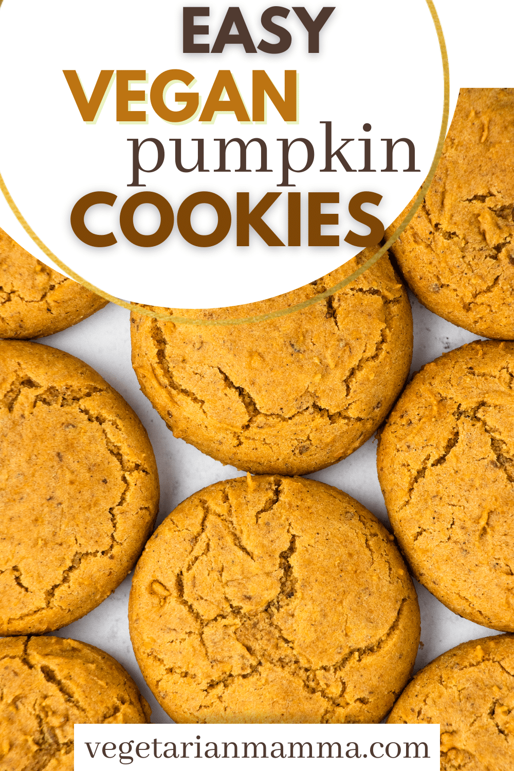 These Vegan Pumpkin Cookies are the perfect easy fall dessert! Creamy pumpkin puree and a delicious pumpkin spice blend make these chewy gluten-free cookies the best of the season.